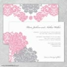 Moon River Wedding Invitation With Back Printing
