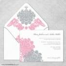 Moon River Wedding Invitation With Envelope Liner