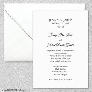 Moonlight Sonata 2 Invitation And Envelope