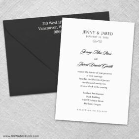 Moonlight Sonata 3 Invitation And Color Envelope