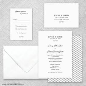 Moonlight Sonata 5 Wedding Invitation And Rsvp Card