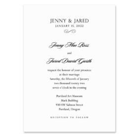 Moonlight Sonata Wedding Invitation