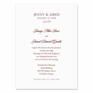 Moonlight Sonata Wedding Invitation