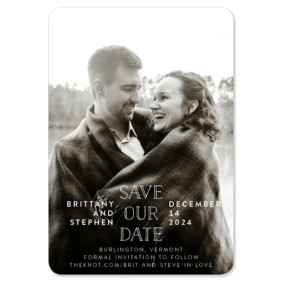 Nestled 1 Save The Date Magnets