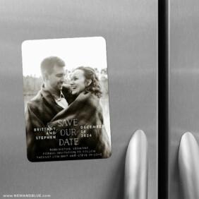 Nestled 2 Save The Date Refrigerator Magnet