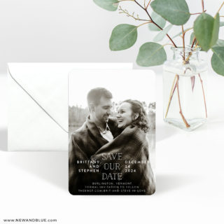 Nestled 3 Save The Date Magnet With Envelope