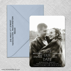 Nestled 3 Save The Date With Optional Color Envelope