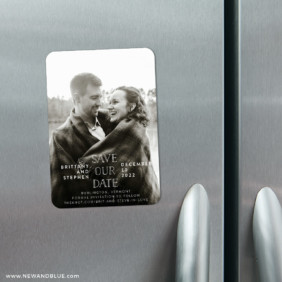 Nestled 4 Refrigerator Save The Date Magnets