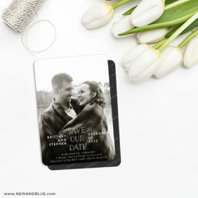 Nestled 5 Save The Date Fridge Magnet