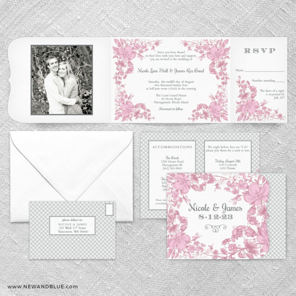 Newburyport All In One Wedding Invitation Suite