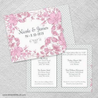 Newburyport Allinone Wedding Invitation Set