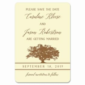 Oak Tree 1 Save The Date Magnets
