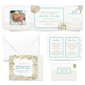 On The Beach All Inclusive Wedding Invitation