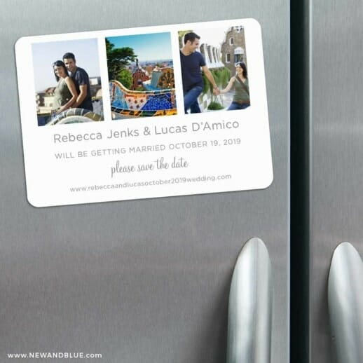 On This Day 3 Refrigerator Save The Date Magnets