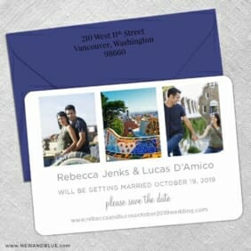 On This Day 5 Save The Date With Optional Color Envelope