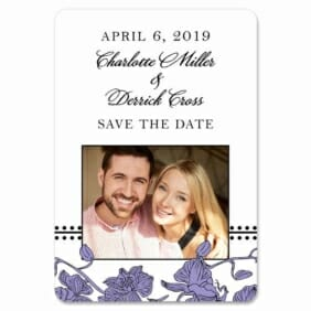 Orchid 1 Save The Date Magnets