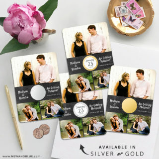 Our Special Spot 4 Scratch Off Wedding Magnet