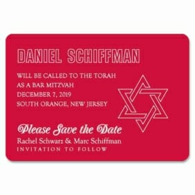 Outlines Bar Mitzvah 1 Save The Date Magnets
