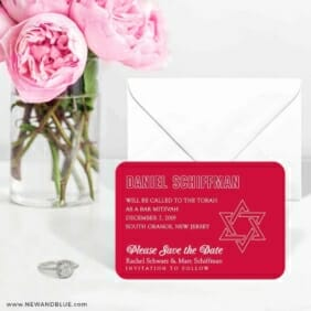 Outlines Bar Mitzvah 6 Wedding Save The Date Magnets