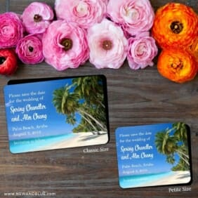 Palm Beach 2 Save The Date Magnet Classic And Petite Size