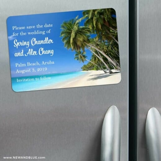 Palm Beach 3 Refrigerator Save The Date Magnets