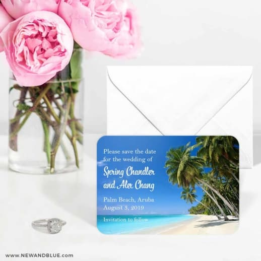 Palm Beach 6 Wedding Save The Date Magnets