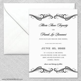 Paris 2 Invitation And Envelope