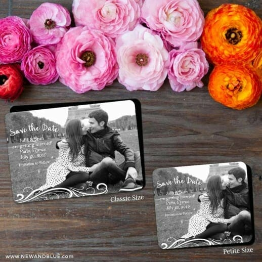 Paris 2 Save The Date Magnet Classic And Petite Size