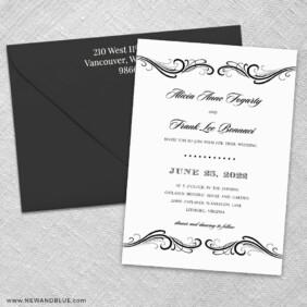 Paris 3 Invitation And Color Envelope