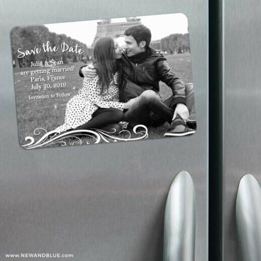 Paris 3 Refrigerator Save The Date Magnets