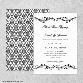 Paris 4 Invitation Shown With Back Printing
