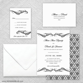 Paris 5 Wedding Invitation And Rsvp Card