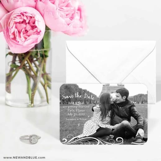 Paris 6 Wedding Save The Date Magnets