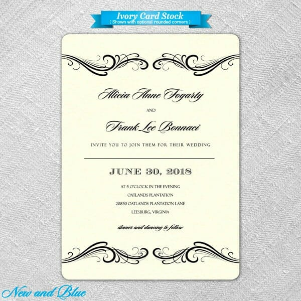 Paris Wedding Invitations 6 New And Blue