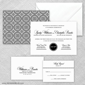 Park Avenue 5 Wedding Invitation And Rsvp Card