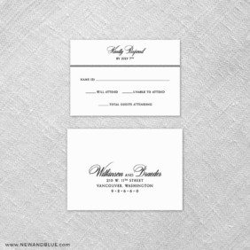 Park Avenue 6 Reception Card And Rsvp Card