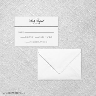 Park Avenue Rsvp Card And Envelope