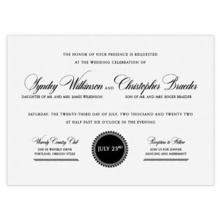 Park Avenue Wedding Invitation