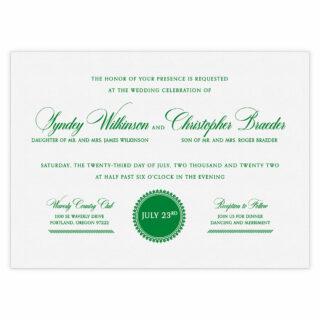 Park Avenue Wedding Invitation