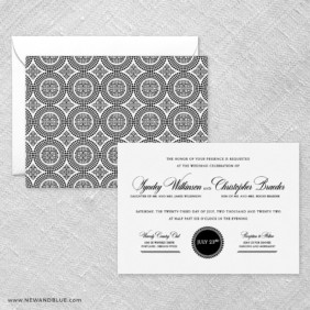 Park Avenue Wedding Invitation With Back Printing