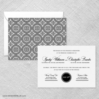 Park Avenue Wedding Invitation With Back Printing