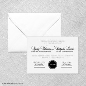 Park Avenue Wedding Invitation With Envelope