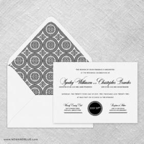Park Avenue Wedding Invitation With Envelope Liner