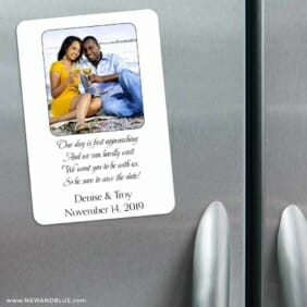 Poem 3 Refrigerator Save The Date Magnets