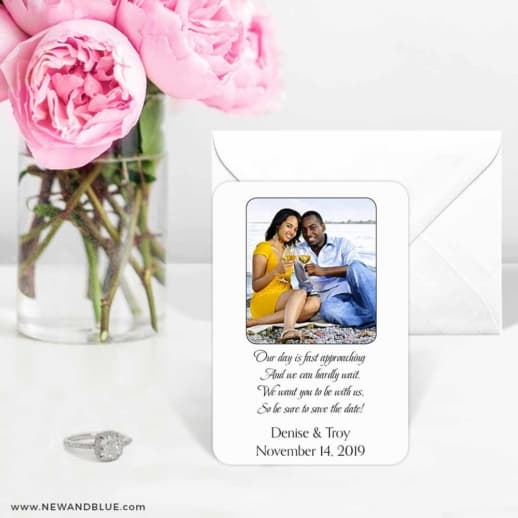 Poem 6 Wedding Save The Date Magnets