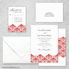Portland 5 Wedding Invitation And Rsvp Card