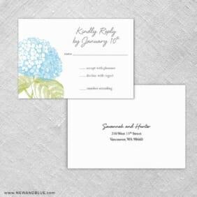 Portofino Rsvp Card And Envelope