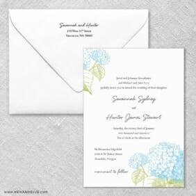 Portofino Wedding Invitation With Envelope