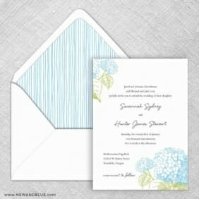 Portofino Wedding Invitation With Envelope Liner