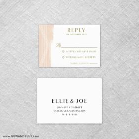 Quartz 6 Reception Card And Rsvp Card